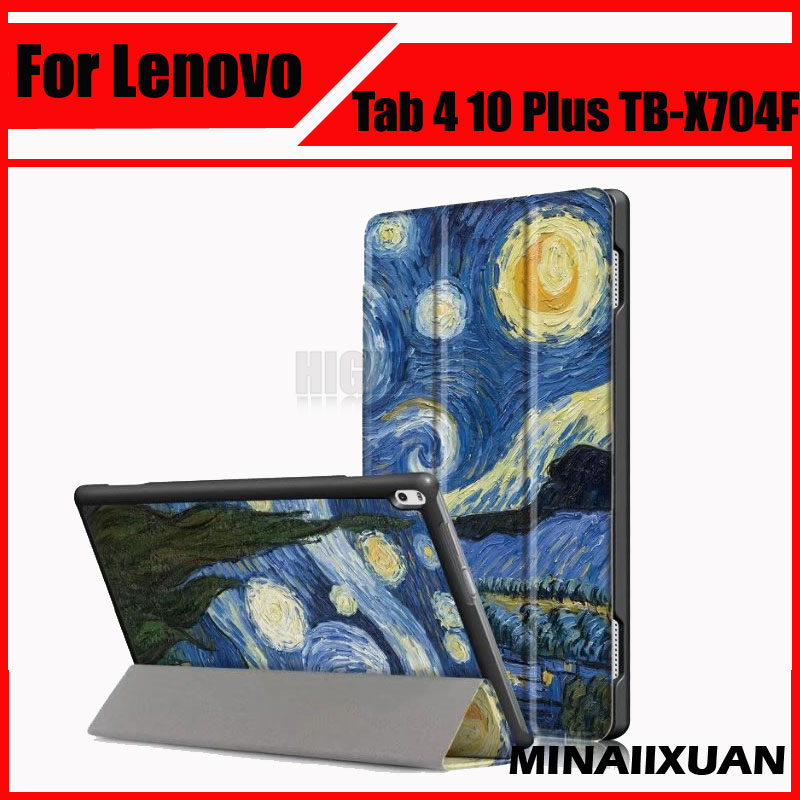 PU Leather Case Cover For Lenovo Tab 4 10 Plus TB-X704L X704F X704N Tablet Cases Cover For Lenovo Tab4 10 plus TB X704L + Gift