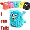 Electronic Toys Color Electric Pets Owl Elves Plush Toys Recording Talking Toys Christmas Gift With Furbiness