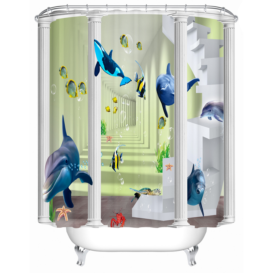 online get cheap dolphin shower curtain alibaba group. Black Bedroom Furniture Sets. Home Design Ideas