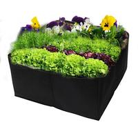 2pcs 4 Grid Divided Raised Planting Bags 60x60x30cm Non woven Square Flowers And Vegetables Growing Bags