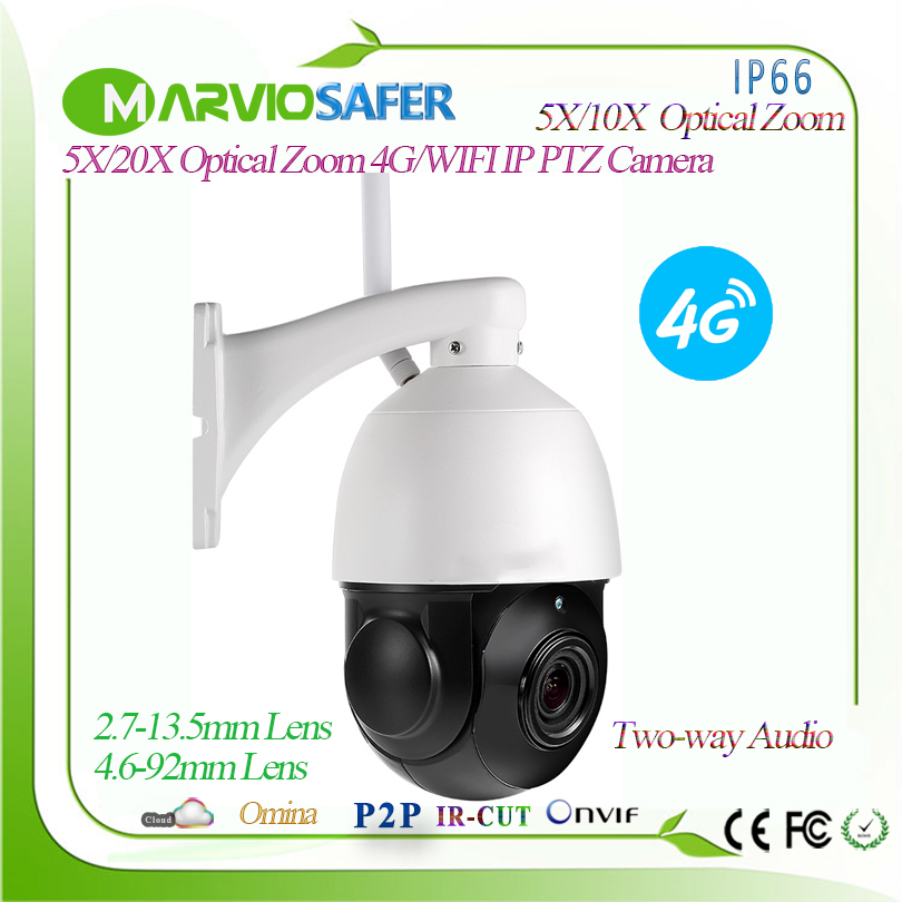 1080P 4G CCTV PTZ Network wifi IP Camera 2MP Wireless IPCAM Camara SIM Card 2.7-13.5mm 5X / 4.6-92mm Optical Zoom Lens, Onvif