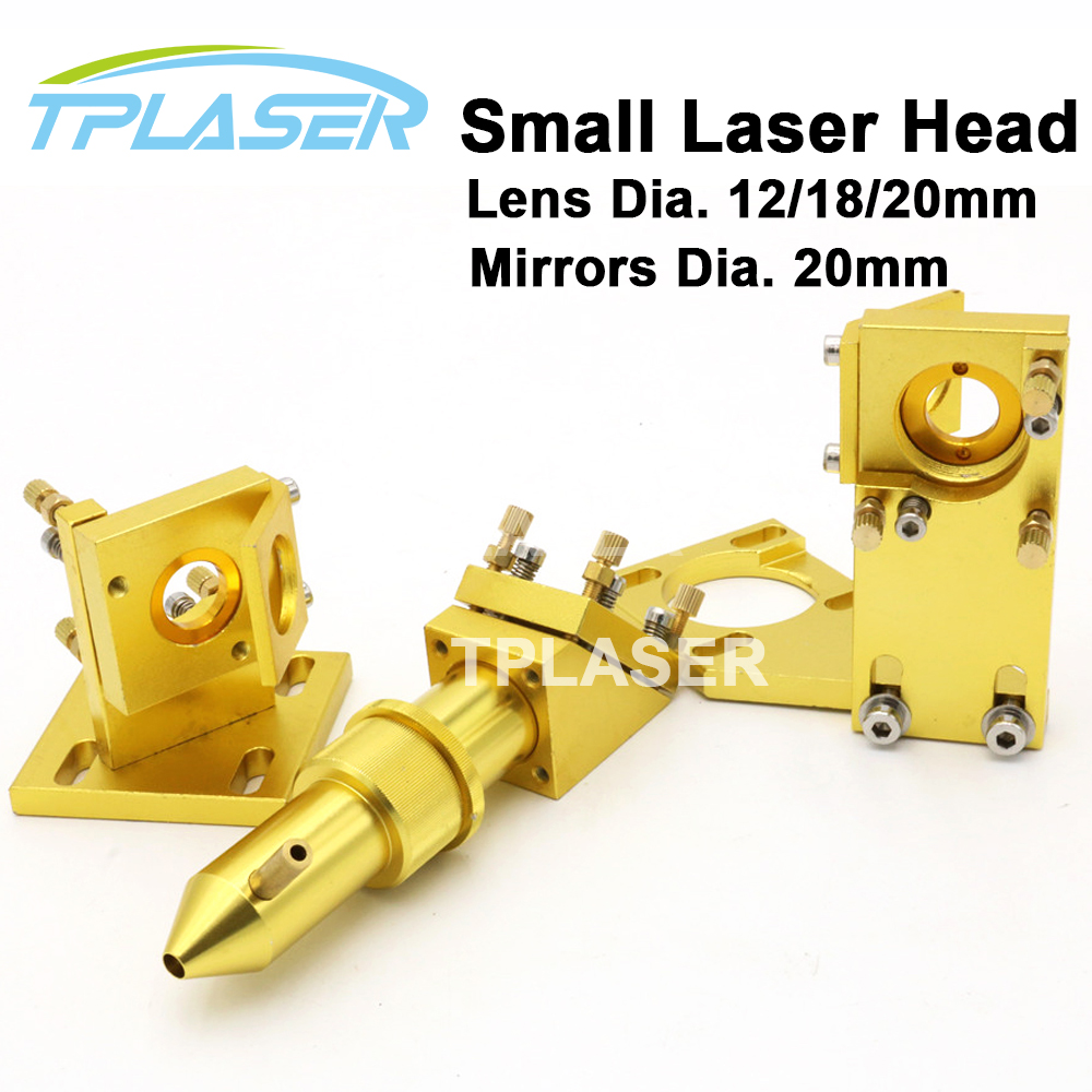 CO2 Laser Lens Head Mirrors Mount Set for 2030 4060 K40 Laser Engraving Cutting Machine co2 laser heads for cutting machine 20mm diameter lens 50 8 focal 25 mm reflecting mirrors