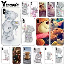 Yinuoda Teddy Ik Je Beer Lichtgewicht Siliconen Mobiele Telefoon Shell voor iPhone X XS MAX 7 plus 8 8 Plus 5 5 s XR 6 6 s 7 Case(China)
