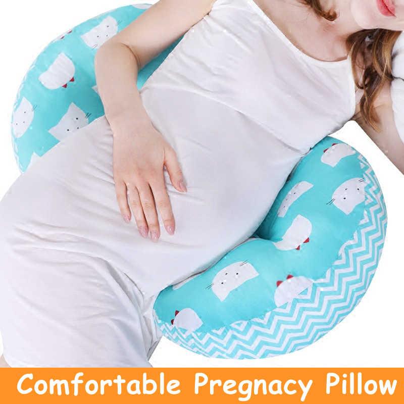 Kehamilan Bantal Perut Lumbar Bantal untuk Sisi Tidur Wanita Hamil Linu Panggul Back Pain Relief U Bentuk Bantal