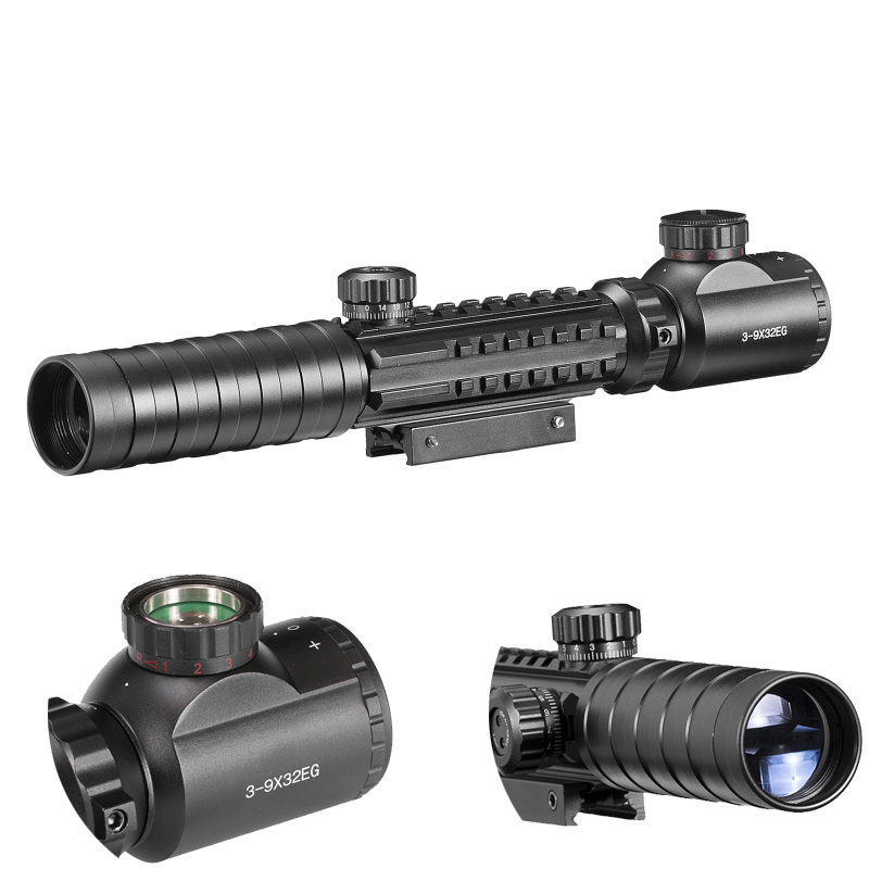 цены B 3-9x32 Eg Scope Red /green Dot Illuminated Sight Tactical Sniper W 11mm/22mm For Air Gun Mildot Hunting Riflescope