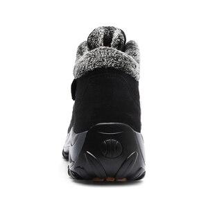 Image 5 - Caminhadas sapatos para mulher de couro real antiderrapante ao ar livre caminhadas botas sapatos de trekking à prova dwaterproof água esporte tênis de acampamento sapatos esportivos