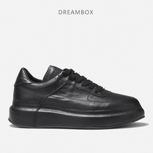sneakers men chaussure homme new brand high quality all black men's leather all brand new reputation first good news high quality new revised electric human respiratory system model