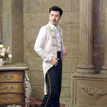Free shipping 100%real mens medieval suit/swallow tail stage performance/free size, for mens height 175-180cm, weight 70-80kg