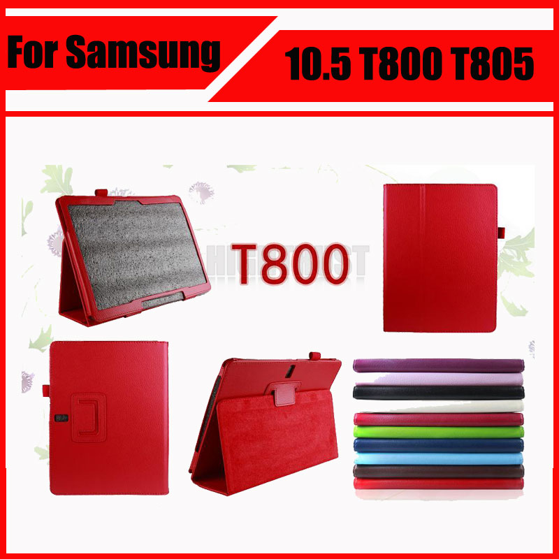3 in 1 Wholesale Pu Leather Stand Tablet Cover Case For Samsung Galaxy Tab S 10.5 T800 T805 + Screen Film + Stylus pu leather case cover for samsung galaxy tab 3 10 1 p5200 p5210 p5220 tablet