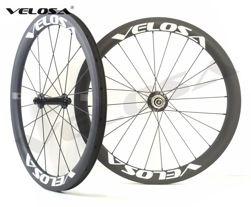 20 inch bike carbon wheel Full carbon Velosa 20inch 451 carbon wheelset 38mm clincher folding bike