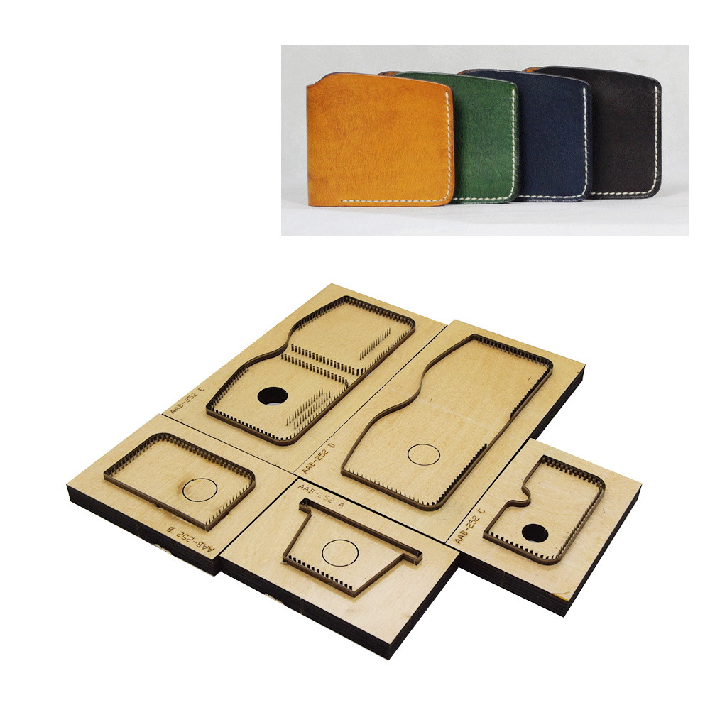 Japan Steel Blade Rule Die Cut Steel Punch Short Wallet Cutting Mold Wood Dies For Leather Cutter For LeatherCrafts 110x95x10mm