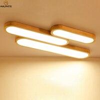 モダンな木製のledシーリングライトリビングルームのベッドルームの照明器具led照明器具ホーム装飾木製led天井ランプ