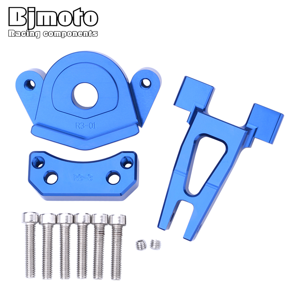 BJMOTO Motorcycles Adjustable Steering Stabilize Damper Bracket Mount Support Kit For Yamaha YZF R25 YZF R3