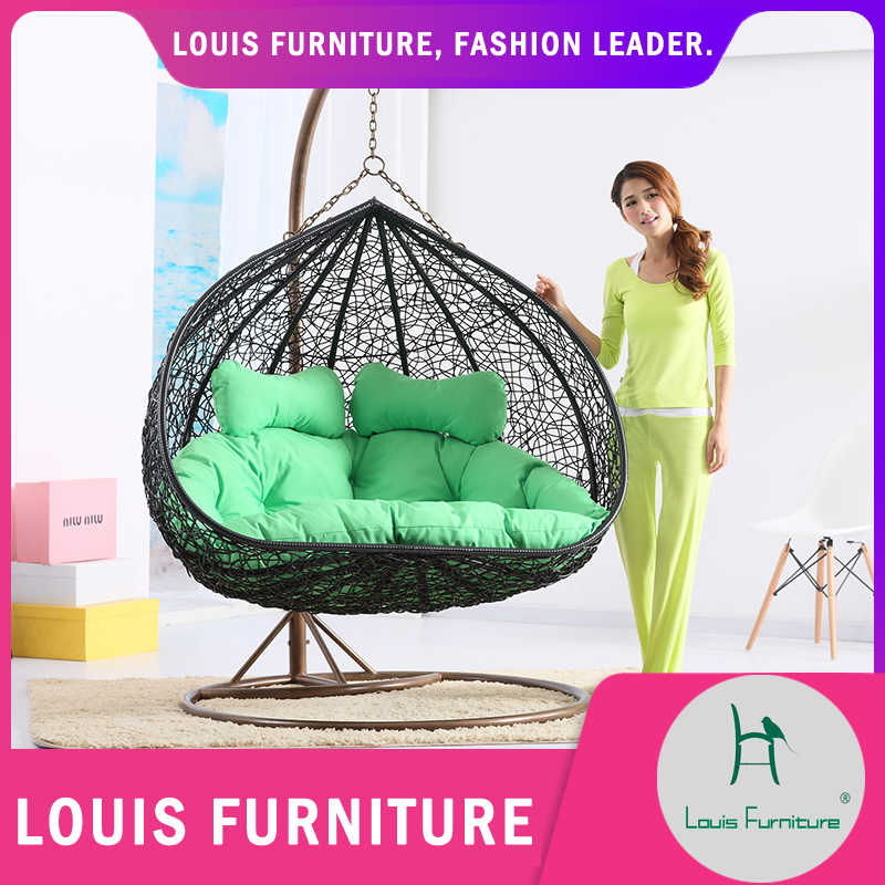 Louis fashion Patio Swings chair indoor adult cradle rattan double hammock living room bird nest lazy rocking