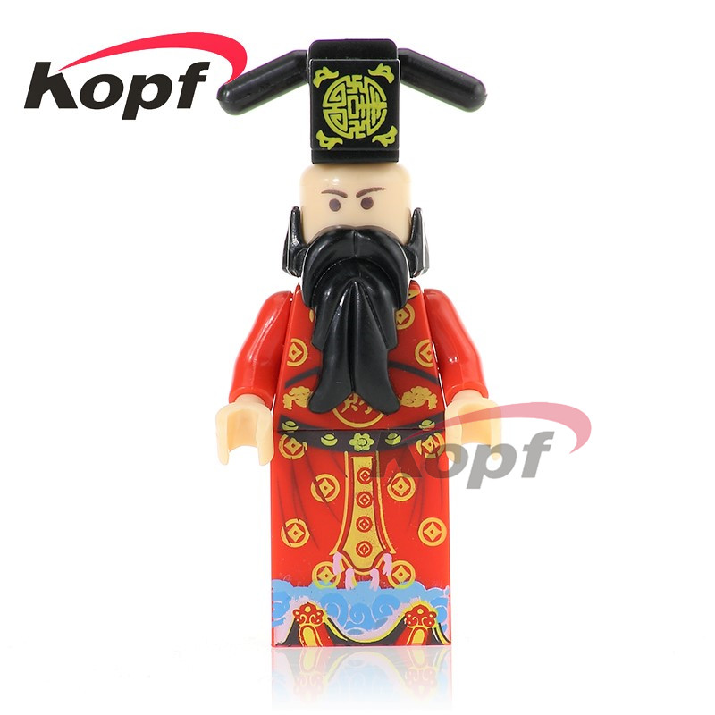 Single Sale Super Heroes God of fortune Custome Make MOC Panda Man Imperial Guard Building Blocks Children Gift Toys PG1025 super heroes single sale the villain of yellow lantern skeletor heman he man he man building blocks toys for children gift kf921