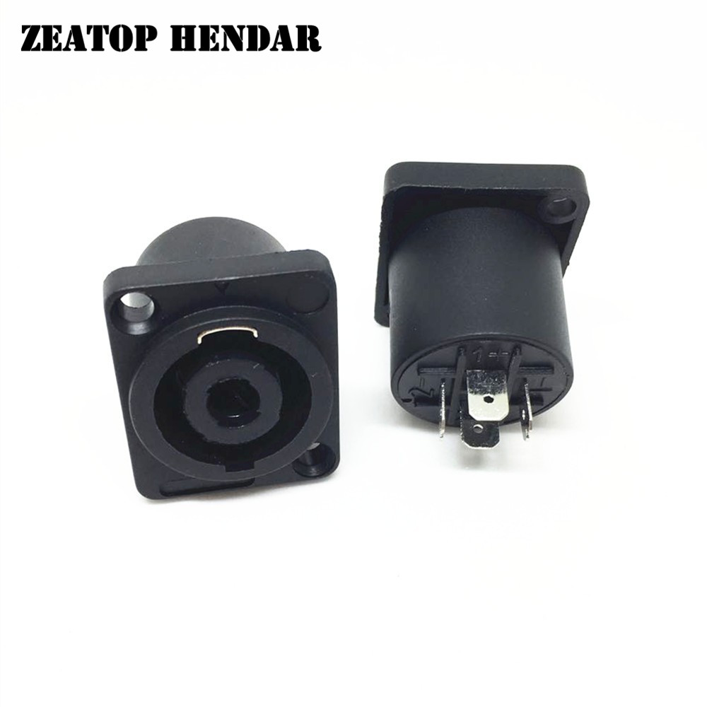8Pcs Square Powercon Socket Black Speak on Adapter 4 Pin Female Jack ...