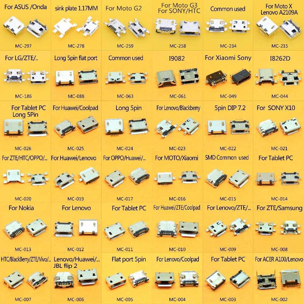 36 نماذج 360 قطعة/الوحدة المصغّر usb 5 دبوس جاك مايكرو مقبس USB المصغّر usb 5 P وصلة مرفاع ميناء ل سامسونج Lenovo Huawei ZTE HTC إلخ