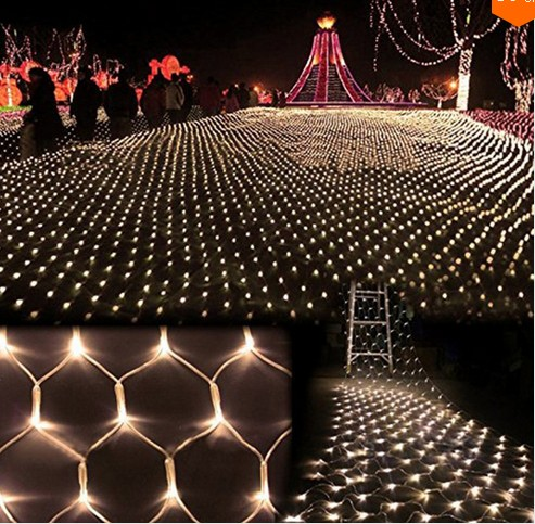63m 640LED Large Size Led String Net Lights Wedding Supplies Decoration Curtain Background Christmas Fairy Web Light In LED From Lighting