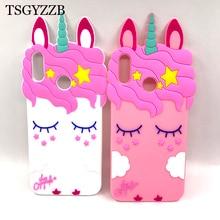For Huawei Nova 3 Case 3i Silicone 3D Unicorn Cat Ears Cute Cartoon Horse Soft Back Cover P Smart Plus