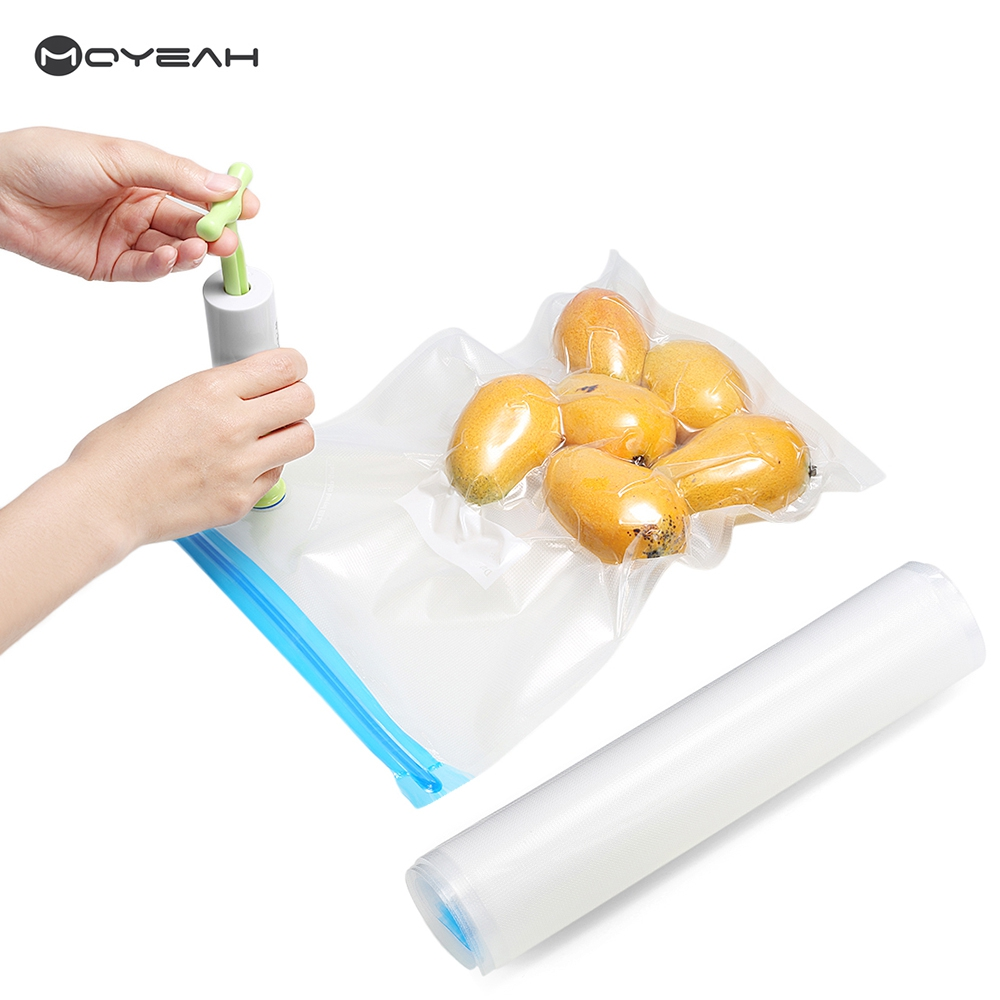moyeah hand vacuum food sealer pump with 10pcs reusable food vacuum sealed bag handheld food sealing - Vacuum Food Sealer