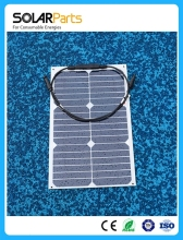 Solarparts 1x 18W flexible solar panel solar module 12V 125 125mm solar cell RV Marine Camp