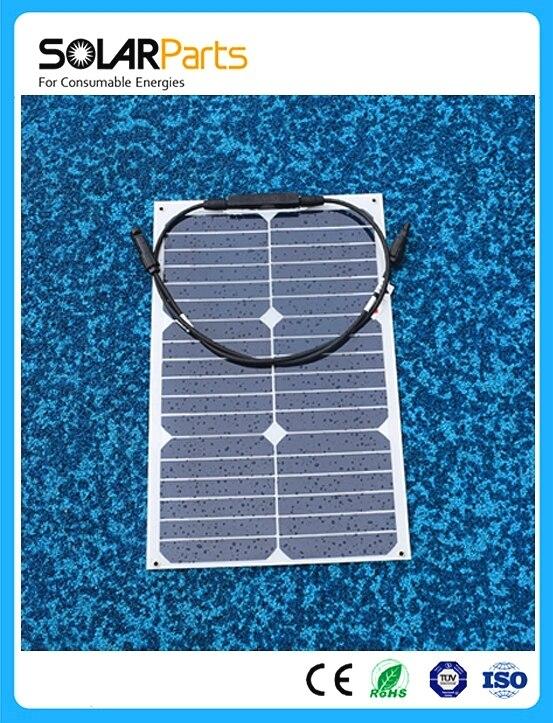 Prix pour Solarparts 1x18 W solaire flexible panneau solaire module 12 V 125*125mm cellule solaire RV/Marine/Camp De Voiture sun power système de chargeur de batterie