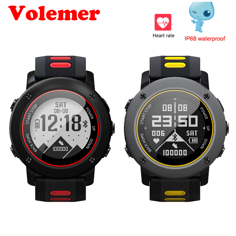 все цены на Volemer Smart Watch UW9 GPS Outdoor Sport Watch IP68 100M Waterproof Swimming Watch Heart Rate Fitness Tracker Smart Wristwatch онлайн