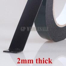 Толщина 2 мм) 5 м/рулон, 5 мм~ 60 мм широкий выбор Двухсторонняя клейкая черная губка для окон панели пластины резиновые уплотнители для дверей пыленепроницаемые