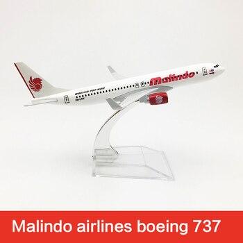 Malindo-Avión de 16cm de Metal fundido a presión, modelo de avión de 16cm Boeing 737, modelo de avión B737 Airways, Escala de juguetes, regalos 1400