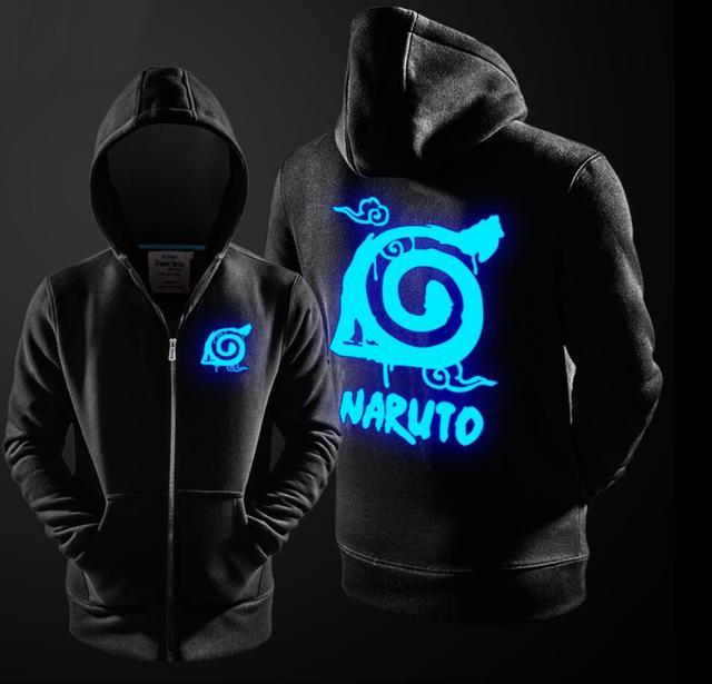 Naruto Kakasi Luminous Zipper Hoodie Jacket