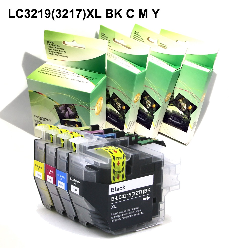 YOTAT (Dye ink) Ink cartridge LC3219 LC3219XL LC3219 XL (LC3217) for Brother MFC-J5330DW MFC-J5335DW MFC-J5730DW J5930DW J6530D long refill ink cartridge lc3219 xl lc3219xl lc3217 for brother mfc j5330dw j5335dw j5730dw j5930dw j6530dw j6930dw j6935dw