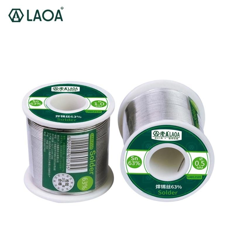 1 pz 400g LAOA 63% Contenuto di Stagno 0.8-2.3mm Filo di Saldatura Fili per Saldatura bastone saldatura filo di stagno