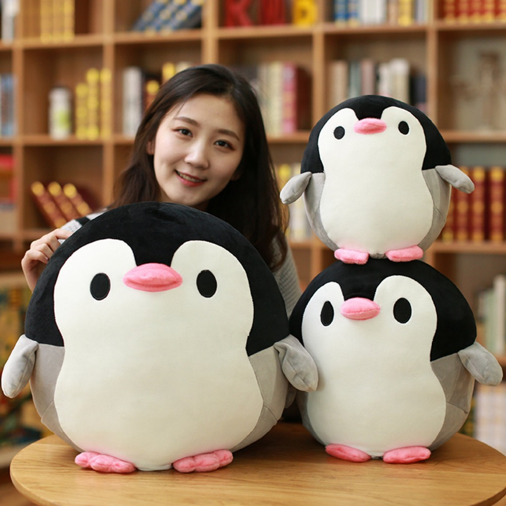 Toys & Hobbies 1pc 22/32/40cm Blanket 1x1.7m Plush Toys Penguin Doll Cartoon Fat Penguin Pillow With Blanket Home Decking Cushion Birthday Gift Movies & Tv