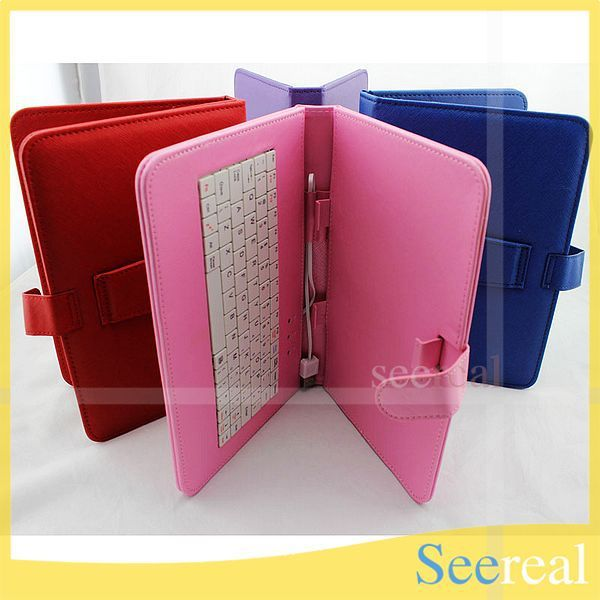 """10Pcs/Lot Keyboard Case For Tablet PC 9"""" 9inch Keyboard Leather Cover For tablet PC 9 DHL Free Shipping"""