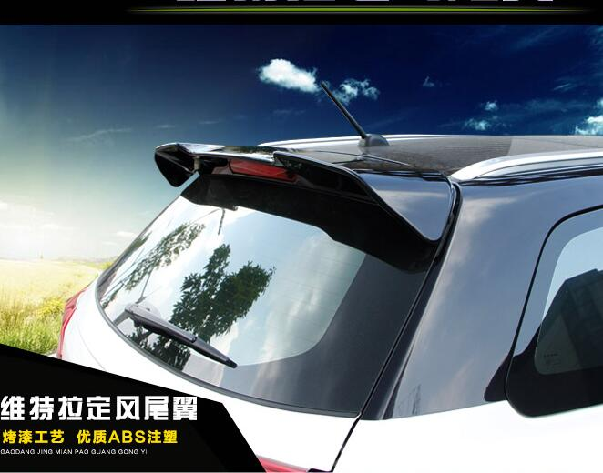 PAINT CAR REAR WING TRUNK LIP SPOILER FOR 16 17 Suzuki Vitara 2016 2017 FAST BY EMS paint abs car rear wing trunk lip spoiler for nissan qashqai 2008 2009 2010 2011 2012 2013 fast by ems