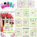 2015NEW 20PCS/LOT  YG001-132 Fluorescent water paste Nail Art Designs water stickers for nails