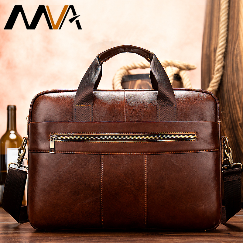 Bag Men's Genuine Leather Briefcase Men Messenger Bags Mens Leather Laptop Bag Mens Business Handbag Shoulder  Bags For Men 8523