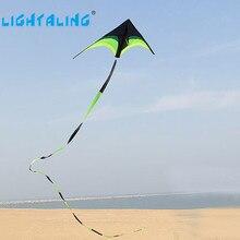 Haute Qualité Grand Delta Kite Prairie Serpent Cerfs-volants Jouets avec 10 m Queues de Vol En Plein Air Vol hcxkite Tige Ripstop Livraison gratuite