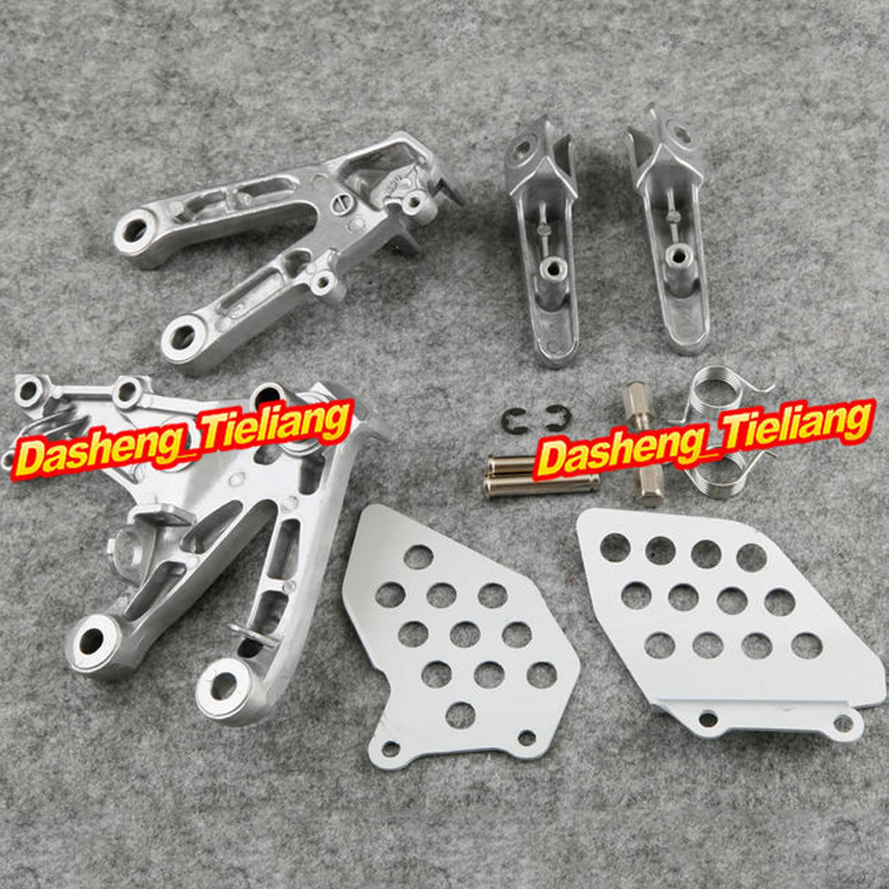 Aluminum Alloy NEW Front Rider Foot Pegs Footrest Brackets For HONDA 2007-2011 CBR 600 RR F5, Motorcycle Spare Part Accessory