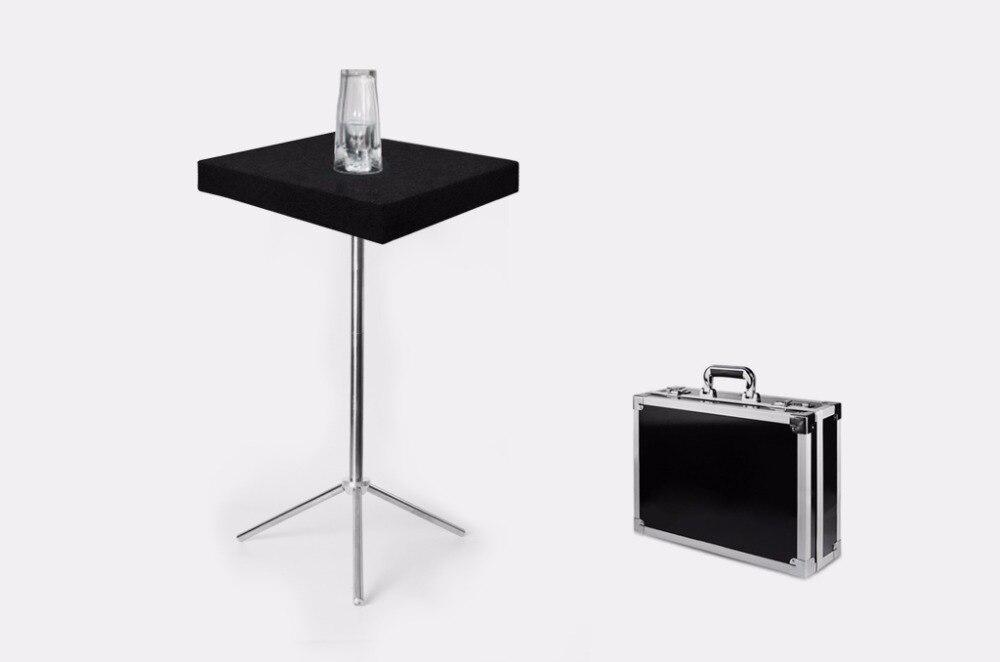 Tours de magie 4 pièces en verre tour de Table avec étui de transport télécommande scène pièces de monnaie magiques Version de luxe magique