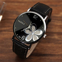 YAZOLE Women Bracelet Watch Leather Crys