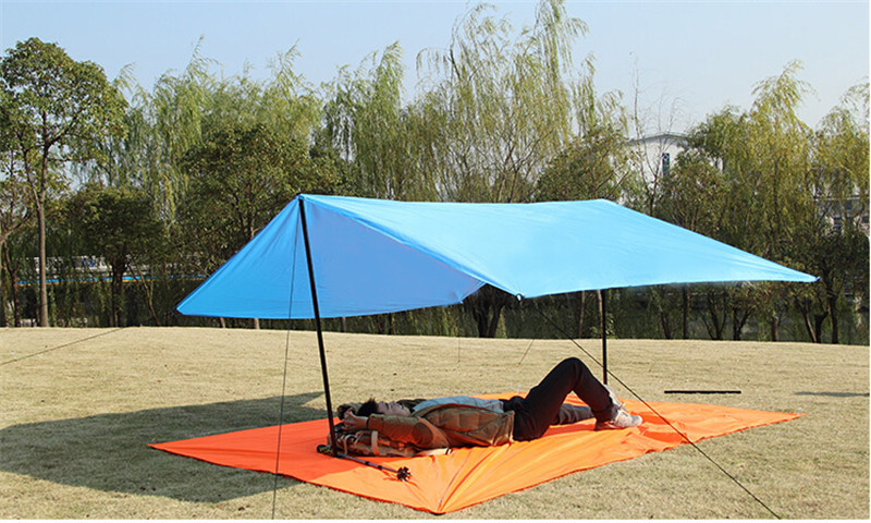 Free shipping Simple Tent Ground mattress c&ing tent outdoor sun shelter sun shade survival shelterawing beach tent 3M*3M-in Sun Shelter from Sports ... & Free shipping Simple Tent Ground mattress camping tent outdoor sun ...