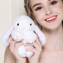 2017 Популярные Play Dead кролик брелок с натуральным кроличьим мехом pom брелки Кролик сумка автомобиль висит кулон ювелирные украшения подарки