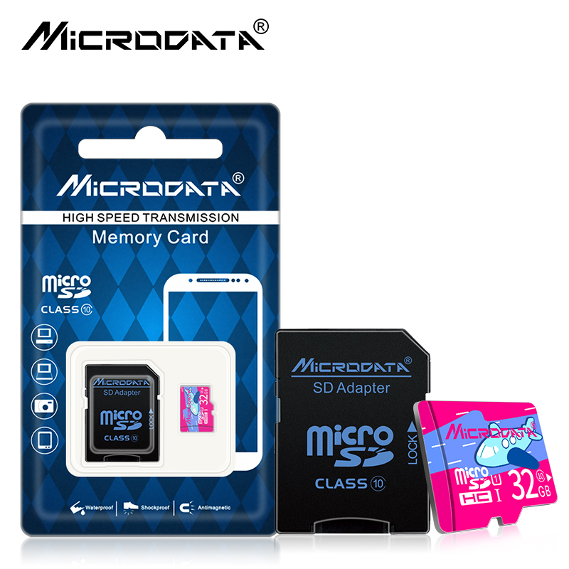 MICRODATA Robot Series Micro SD Card 32GB UHS-1 16/32/128GB Class10 Flash Memory Card 16gb Micro SDHC/SDXC tf card For camera