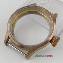 43mm Parnis Bronze plated Case Sapphire Glass fit eat 6498 6497 movement replacement parts