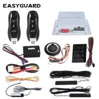Easyguard автомобильный БЕСКЛЮЧЕВОЙ сигнализация пассивный быстрозажимный go надежды кнопочный стартер вход по паролю дистанционного остановк