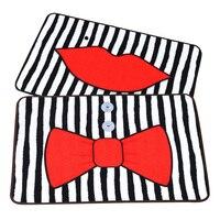 WINLIFE Bande Dessinée Lip Imprimer/Arc Cravate Motif Tapis D'entrée Paillasson Creative Tapis Pour Chambre/Hôtel/Salle De Bains Décoratif tapis Tapis