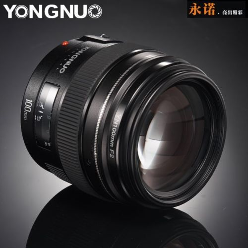 New yongnuo yn100mm f2 medium telephoto prime lens for canon eos rebel...