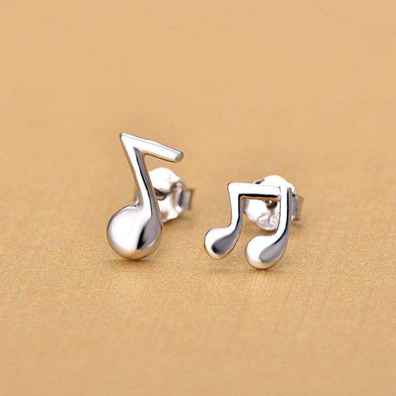 Купить модные музыкальные нотки серебряный цвет красивые миниатюрные