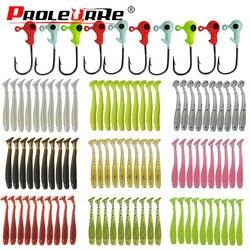 20 sztuk Jig miękka przynęta silikonowe przynęty robak przynęty Wobbler 45mm 0.7g atrakcyjne sztuczne gumowe obrotowe łowienie okonia Tackle|Przynęty|   -